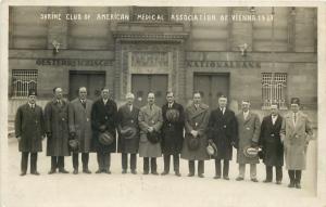 Vienna Austria~Shrine Club Of American Medical Association~RPPC~1927 Postcard