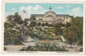 Franciscan Monastery, Washington, D.C., view from Gethsemani Valley, 1910s
