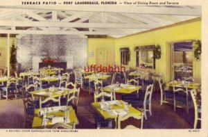 TERRACE PATIO Restaurant and Cocktail Lounge FORT LAUDERDALE, FL 1953