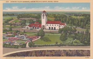 Howard Platt Gardens Union Pacific Railroad Depot Boise Idaho Curteich