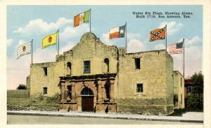 TX - San Antonio. The Alamo under Six Flags