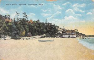 C97/ Ludington Michigan Mi Postcard c1910 North Beach Epworth Bath House