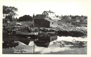 LP43    Newagen  Fishing Village  Maine    RPPC Postcard