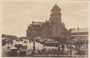 Germany Oberwiessenthal Fichtelberghaus 1214 Meter Hoch Old Cars Real Photo