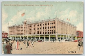 Jacksonville FL~Cohen Brothers Mammoth Department Store~Dog on Leash~Artist~1910