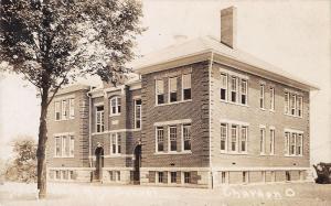Chardon Ohio~New High School~East Park Street~Built 1908~Razed 1984~1908 RPPC