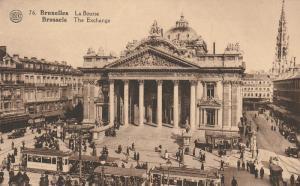 La Bourse, Bruxelles, Belgium, c. 1910s