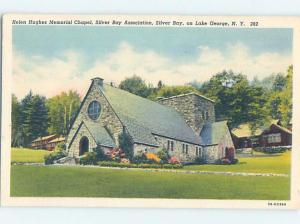 Linen CHURCH SCENE Adirondacks - Silver Bay - Lake George New York NY G4133
