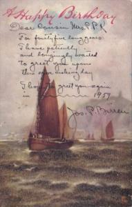 Tucks Happy Birthday With Sailboat Around The Coast Series 6694