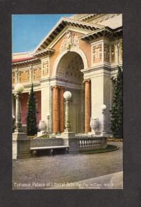 CA Palace Liberal Arts Pan Pacific Expo San Francisco California Postcard