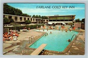 Dearborn MI- Michigan, Fairlane Gold Key Inn, Advertising, Chrome c1969 Postcard