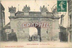Old Postcard Vitry le Francois Gate Bridge