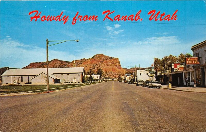 Kanab Utah~Highway 89 Street Scene~Coca Cola~Auto Parts Store~1960s Cars Pc