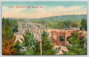 Wausau Wisconsin~Rothschild's Amusement Park~Roller Coaster~c1910 Postcard