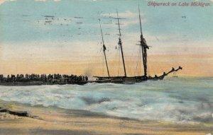 Shipwreck on Lake Michigan, PU-1911