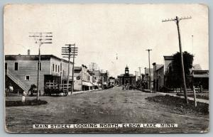 Elbow Lake Minnesota~Main Street Stores~Wagons~Dead End at Courthouse~~c1910