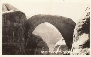 RP: Rainbow Natural Bridge , Utah, 1930-40s ; Frashers Photo PC