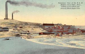 Great Falls Montana~B&M Smelter Panorama~Black Eagle Falls~Missouri River~1910