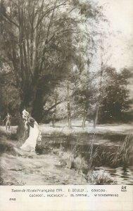 Early art salon exhibition salon 1914 Ecole E. Deully Coucou
