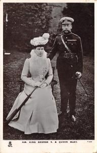 English Royalty~King George V & Queen Mary~Photo Out on Lawn~1910 TUCK RPPC