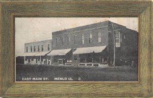 LPS75 MENLO Iowa East Main Street Town View Postcard