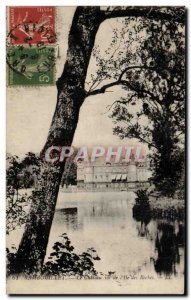 Old Postcard Rambouillet The castle for the & # 39ile rocks
