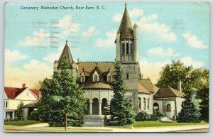 New Bern North Carolina~Centenary Methodist Church Neighborhood~Towers~1943 PC
