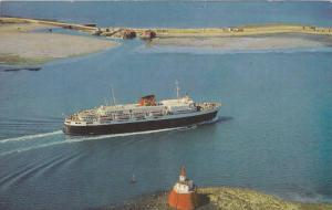 Oceanliner/Steamer/Ship, Bluenose Ferry Entering Yarmouth Harbour, Nova Scoti...