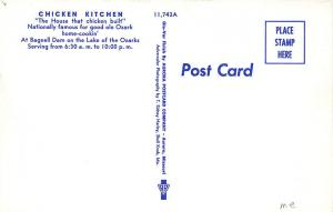 Bagnell Dam Ozarks MO Chicken Kitchen Drive-In Restaurant Old Cars Postcard