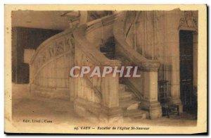 Old Postcard Caen L Eglise Saint Sauveur The Staircase