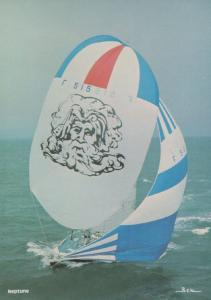 Neptune French 1977 Round The World Race Aluminium Sailing Boat Racing Postcard