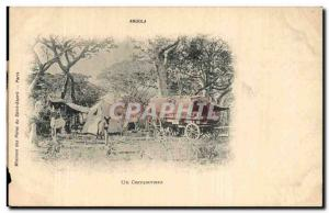 Angola Old Postcard RaRe a camp (ane donkey Africa Africa)