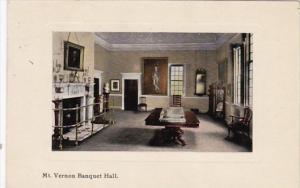 Virginia Mount Vernon The Banquet Hall 1911 Curteich