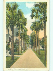 W-border HOUSES AND PALM TREES St. Augustine Florida FL AD4534