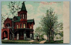 Parkersburg Iowa~Banker CC Wolf Endangered Mansion~German Baptist Church c1910