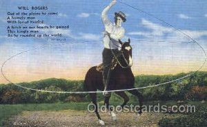 Will Rogers Western Cowboy, Cowgirl Unused