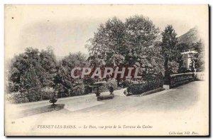Old Postcard Vernet les Bains Park Vue Prize Du Casino De La Terrasse