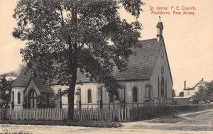 Paulsboro NJ Picket Fence Around Protestant Episcopal Church~Small Steeple c1908