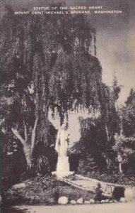 Washington ESpokane Statue Of The Sacred Heart Mount Saint Michaels Artvue