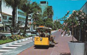 MIAMI BEACH, Florida, 1940-1960's; Exotic Lincoln Mall, Sightseeing Train