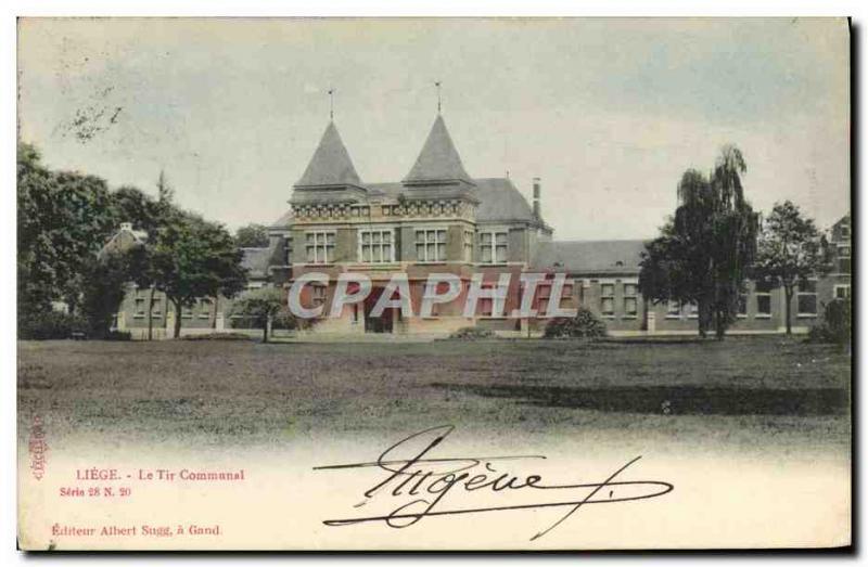 Old Postcard Liege The municipal fire