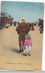 Seaside Comic PPC, Unposted, c 1910's, Bamforth - Following In Fathers Footsteps