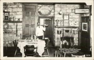 Bardstown KY Talbott Tavern Interior CLINE? Real Photo Postcard