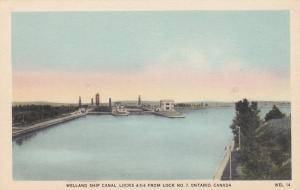 Welland Ship Canal, Locks 4-5-6 , ONTARIO , Canada, 30-40s