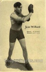 Jess Willard Boxing, Old Vintage Antique Postcard Post Cards  Jess Willard