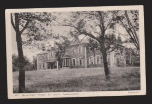 NEWFOUNDLAND - Government House, St John's - Ayre & Sons - Unused