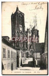 Old Postcard The Cathedral Bourges