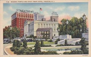 Masonic Temple And Stacy Trent Hotel Trenton New Jersey 1946