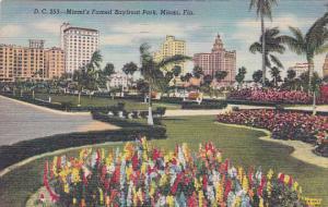 Florida Miami Miamis Famed Bayfront Park 1949 Curteich