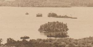 RPPC Moosehead Lake from Blairs Hill - Greenville, Maine - pm 1936 at Kokadjo